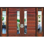1822 Plank Door w/ Lami Glass