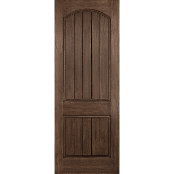 Rustic Planked 2 Panel Arch Top 8 ft